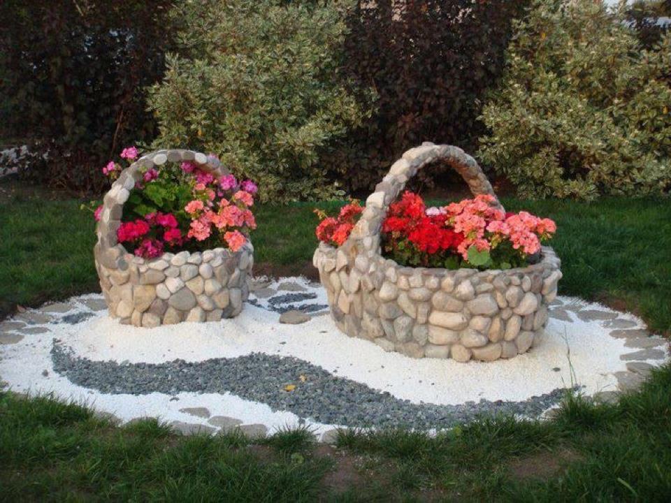 Дизайн из камней своими руками фото