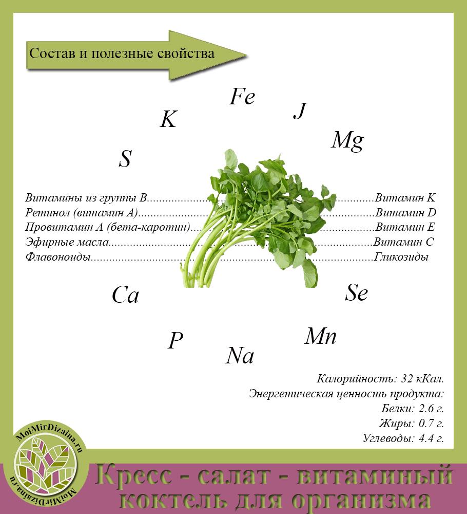 кресс -салат